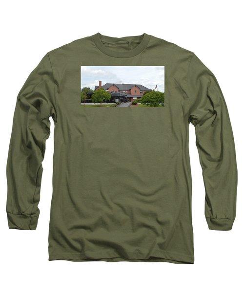 Railroad Depot Long Sleeve T-Shirt by Linda Geiger