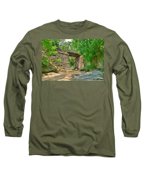 Railroad Tracks At Buttermilk/homewood Falls Long Sleeve T-Shirt