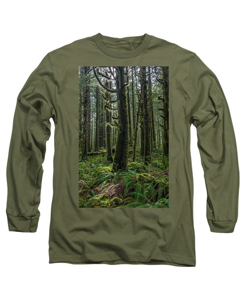 Rain Forest Of Golden Ears Long Sleeve T-Shirt by Pierre Leclerc Photography