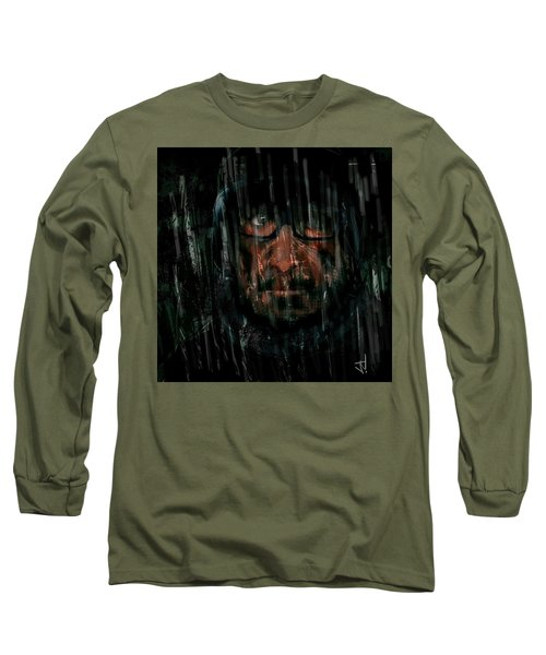 Long Sleeve T-Shirt featuring the painting Rain Nor Sleet Nor Snow by Jim Vance