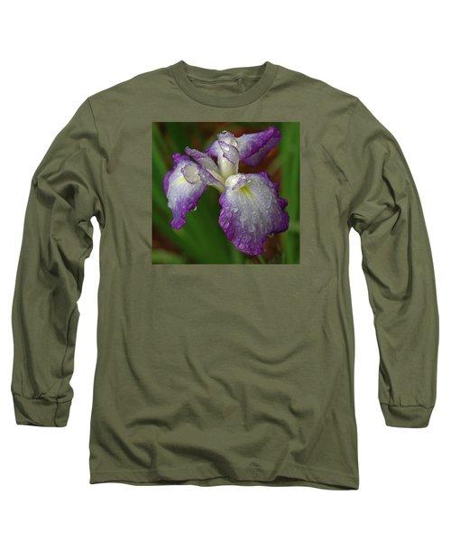 Rain-soaked Iris Long Sleeve T-Shirt
