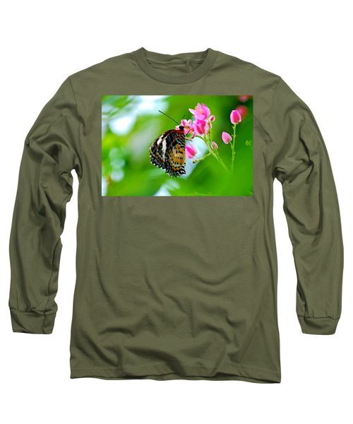 Rainbow Butterfly Long Sleeve T-Shirt