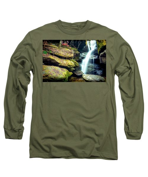 Long Sleeve T-Shirt featuring the photograph Rainbow Falls At Dismals Canyon by David Morefield
