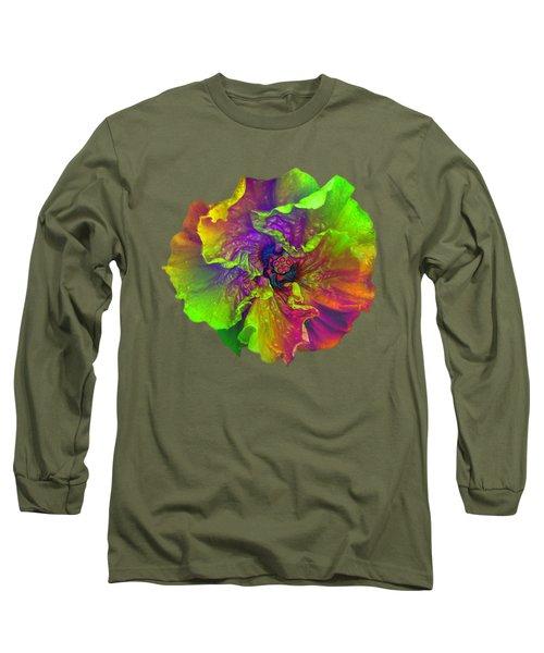 Rainbow Hibiscus Long Sleeve T-Shirt