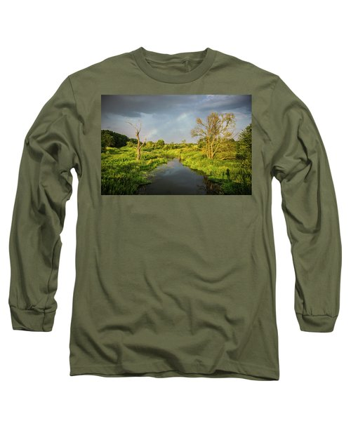 Rainbow Long Sleeve T-Shirt by Jaroslaw Grudzinski