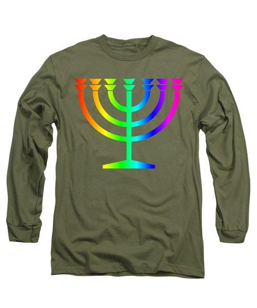 Rainbow Judaism Symbol Long Sleeve T-Shirt