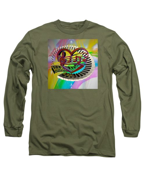 Rainbow Love Of Music  Long Sleeve T-Shirt