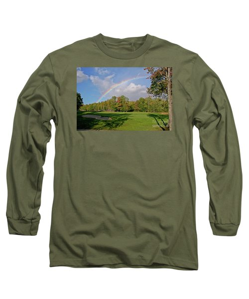 Rainbow Over # 6 Long Sleeve T-Shirt by Butch Lombardi