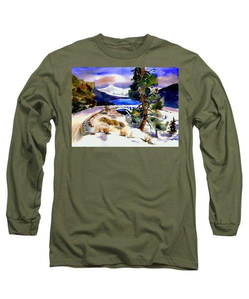 Rainbowbridge Above Donner Lake Long Sleeve T-Shirt