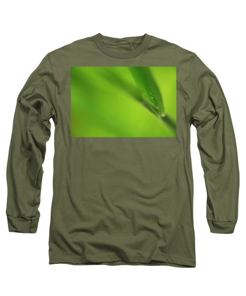 Raindrop On Grass Long Sleeve T-Shirt