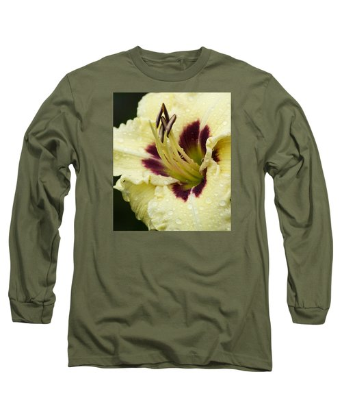 Raindrops On A Petal Long Sleeve T-Shirt
