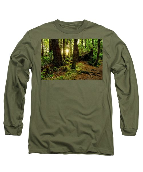 Rainforest Path Long Sleeve T-Shirt by Chad Dutson
