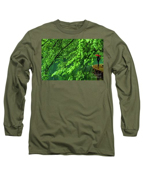 Raining Serenity - Plitvice Lakes National Park, Croatia Long Sleeve T-Shirt