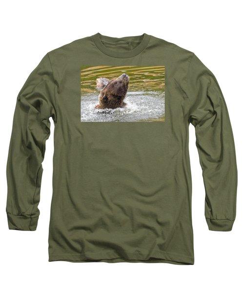Rambo Bear Long Sleeve T-Shirt by Harold Piskiel