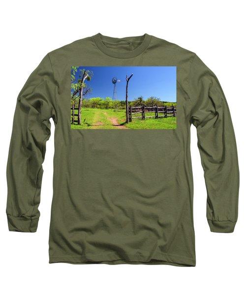Ranch At Click Gap II Long Sleeve T-Shirt by Greg Reed