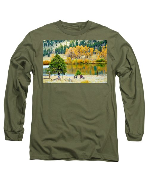 Ranch Pond In Autumn Long Sleeve T-Shirt