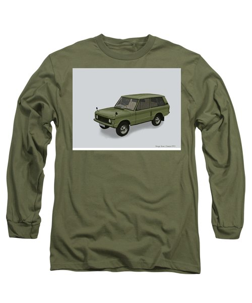 Long Sleeve T-Shirt featuring the mixed media Range Rover Classical 1970 by TortureLord Art