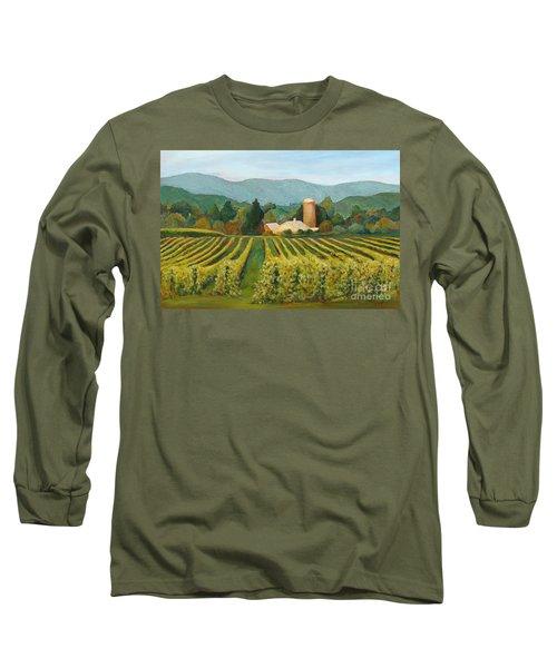 Raspberry Rows Long Sleeve T-Shirt by Phyllis Howard