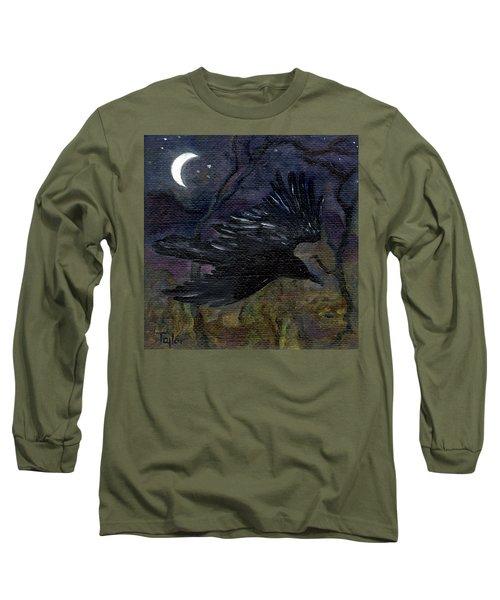 Raven In Stars Long Sleeve T-Shirt