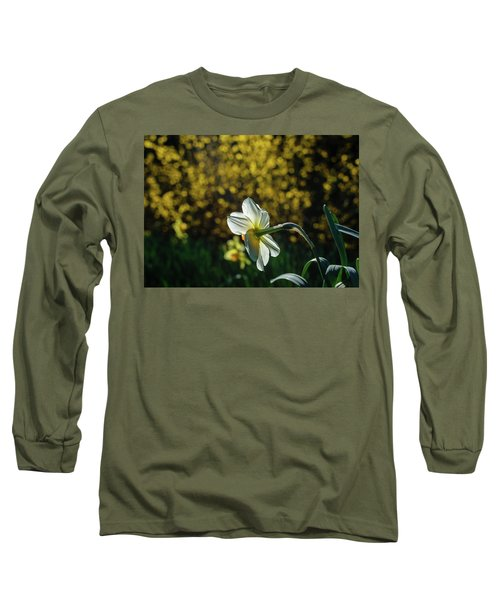 Rear View Daffodil Long Sleeve T-Shirt