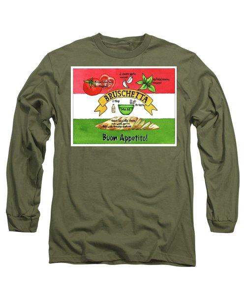 Recpe-bruschetta Long Sleeve T-Shirt