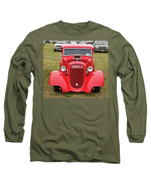 Long Sleeve T-Shirt featuring the photograph Red 1990 by Guy Whiteley