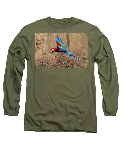 Red-and-green Macaw Long Sleeve T-Shirt