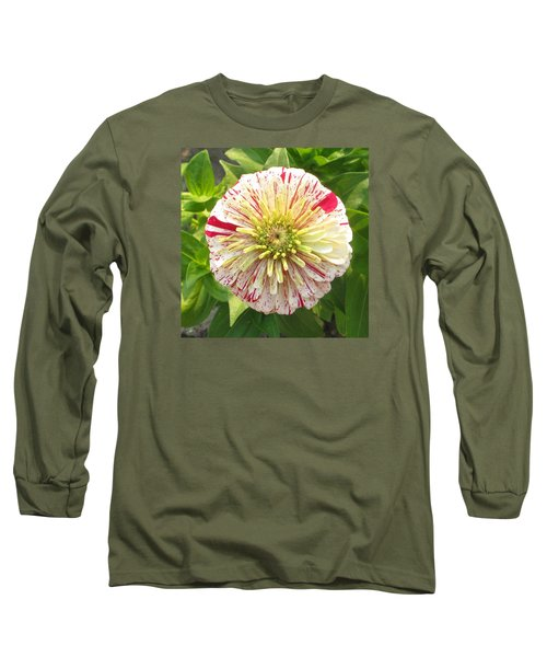 Red And White Flower Long Sleeve T-Shirt