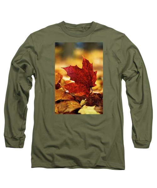 Long Sleeve T-Shirt featuring the photograph Red Autumn by Gary Bridger