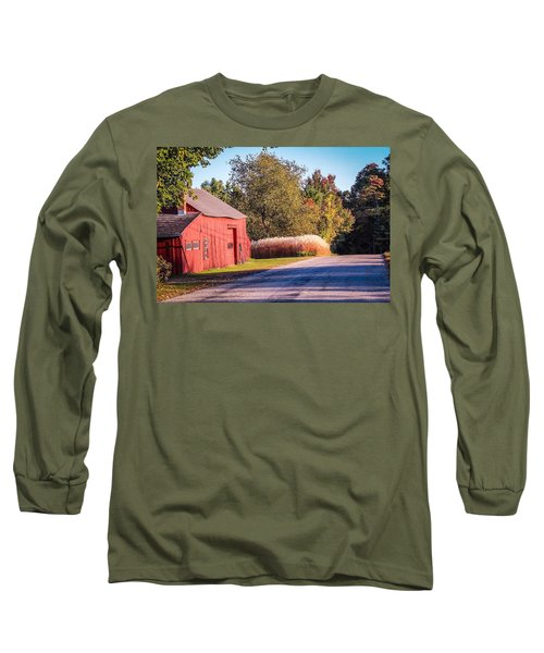 Red Barn In The Country Long Sleeve T-Shirt