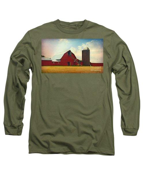 Red Barn Silo Long Sleeve T-Shirt