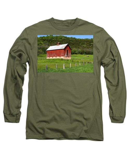 Red Barn With Cupola Long Sleeve T-Shirt