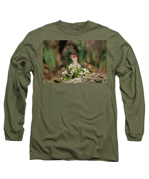 Red-bellied Woodpecker In Spring Long Sleeve T-Shirt