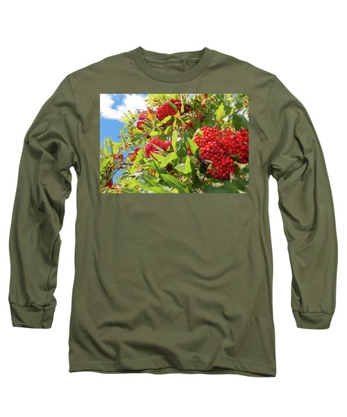 Red Berries, Blue Skies Long Sleeve T-Shirt