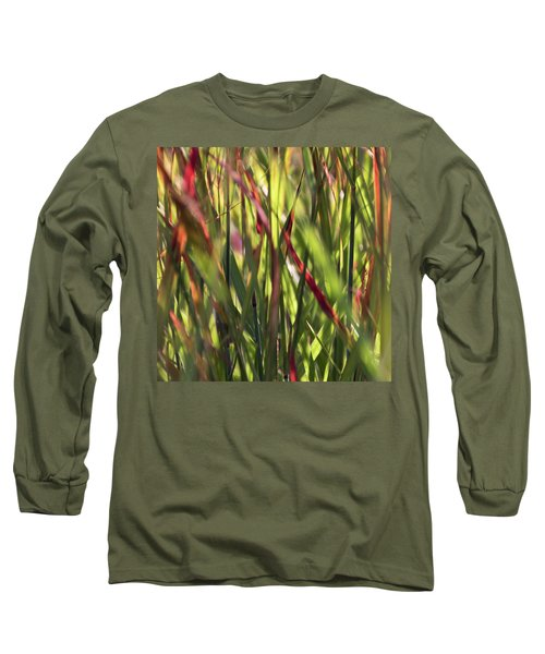 Red Blades Among The Green Long Sleeve T-Shirt