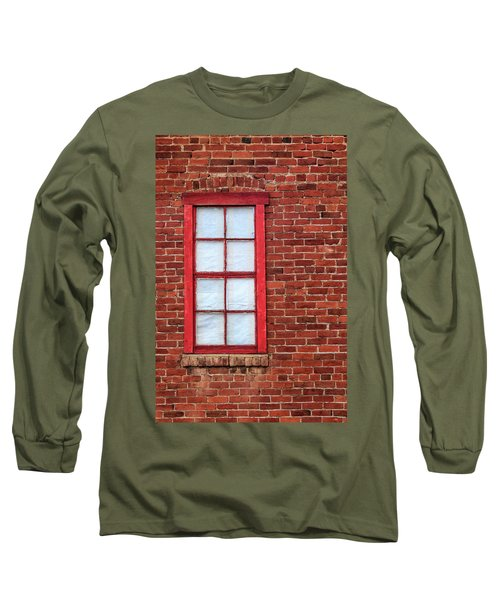 Long Sleeve T-Shirt featuring the photograph Red Brick And Window by James Eddy