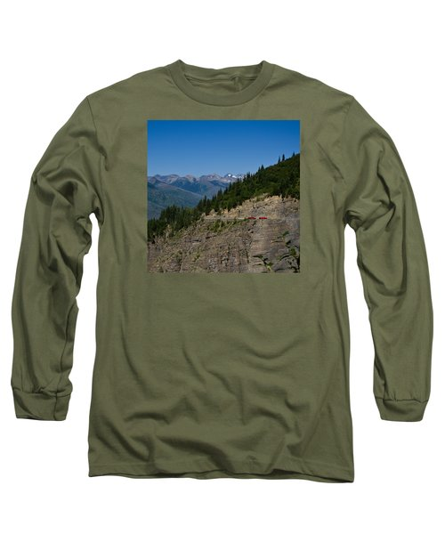 Red Buses, Glacier National Park Long Sleeve T-Shirt