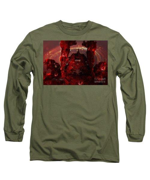 Red Creature Fractal Long Sleeve T-Shirt