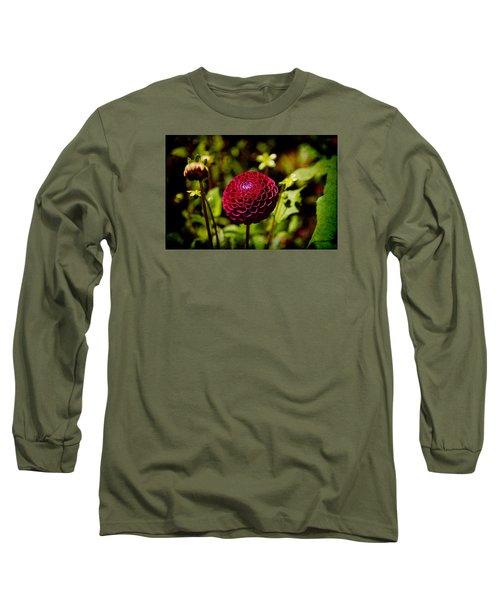 Red Dahila  Long Sleeve T-Shirt