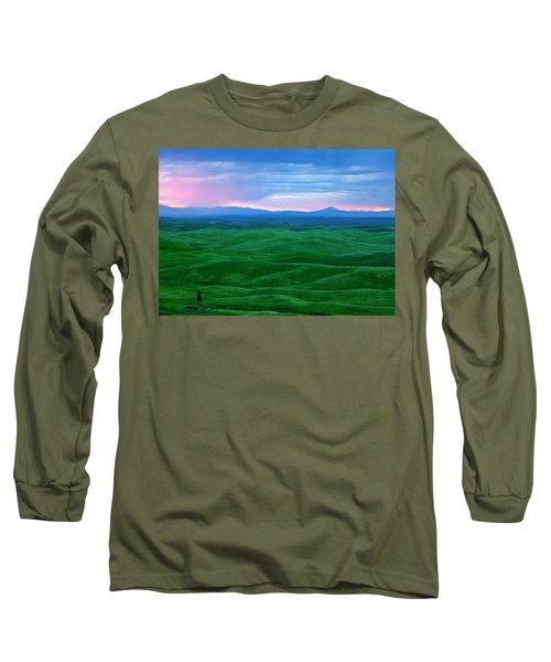 Red Dawn Over The Palouse Long Sleeve T-Shirt
