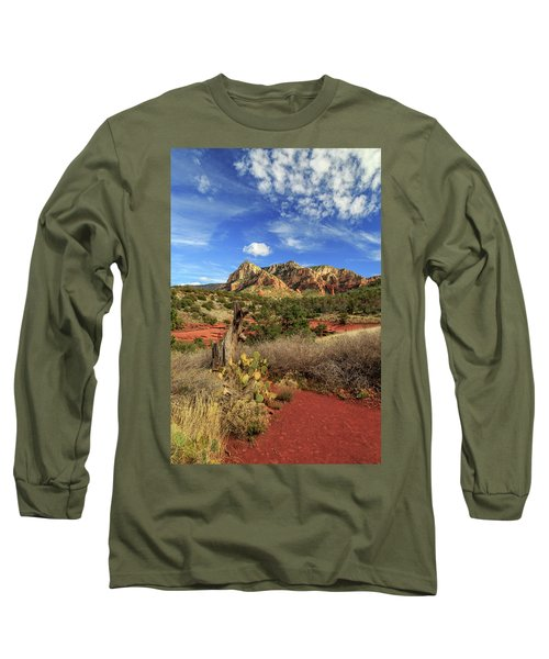 Long Sleeve T-Shirt featuring the photograph Red Dirt And Cactus In Sedona by James Eddy