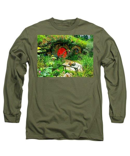 Red Door Hobbit Home Photo Long Sleeve T-Shirt