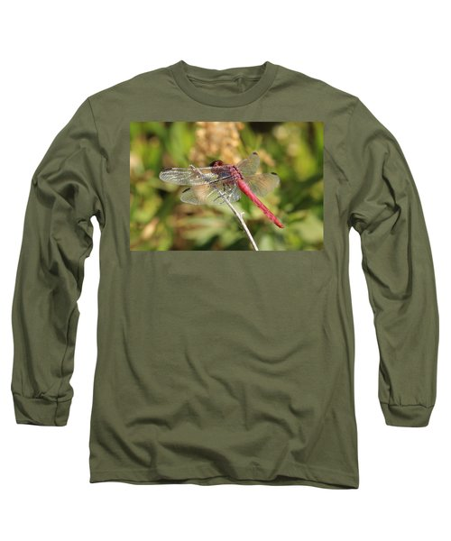 Red Dragonfly Long Sleeve T-Shirt