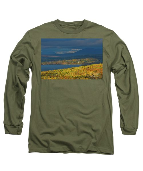 Red Farm House In Evening Light Long Sleeve T-Shirt by Alana Ranney