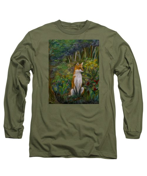 Red Fox Long Sleeve T-Shirt by FT McKinstry