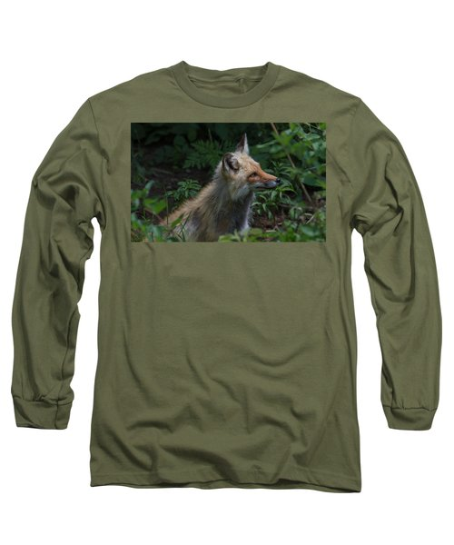 Red Fox In The Forest Long Sleeve T-Shirt