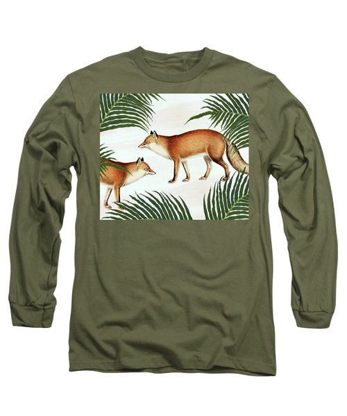 Red Fox Pair Long Sleeve T-Shirt
