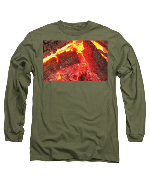 Long Sleeve T-Shirt featuring the photograph Red Hot by Betty Northcutt