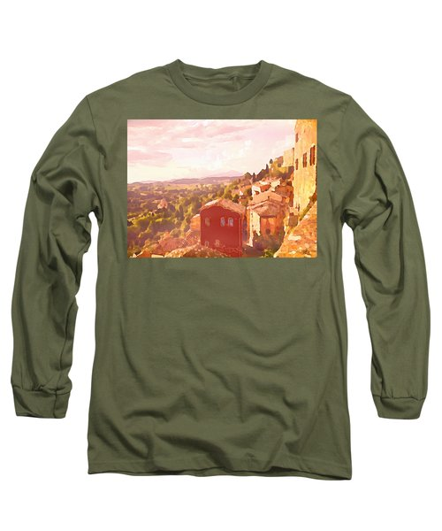 Red House On A Hill Long Sleeve T-Shirt