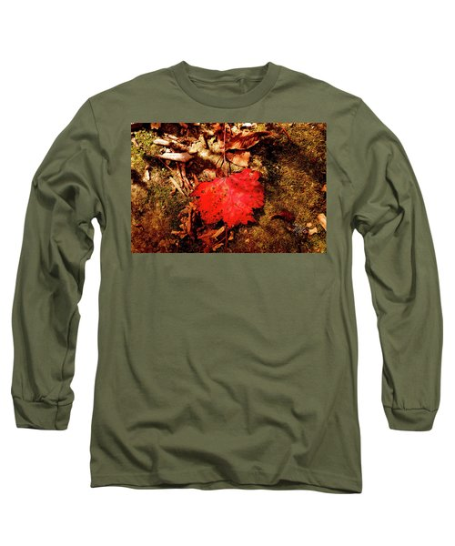 Long Sleeve T-Shirt featuring the photograph Red Leaf by Meta Gatschenberger